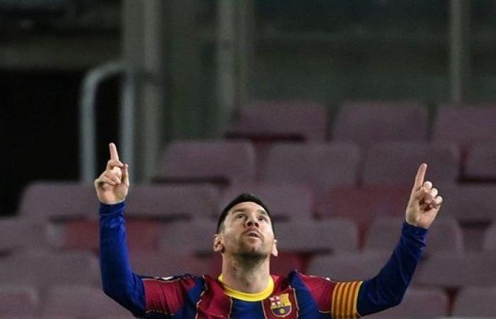 رد فعل ميسي على تسريب عقده مع برشلونة