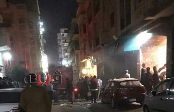 حريق يلتهم مطعما في طنطا | صور