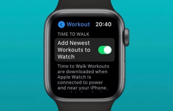 كيفية إيقاف تنزيل حلقات Time To Walk تلقائيًا في ساعة آبل