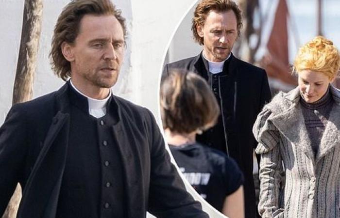 توم هدلستون يواصل تصوير مشاهد مسلسله الجديد