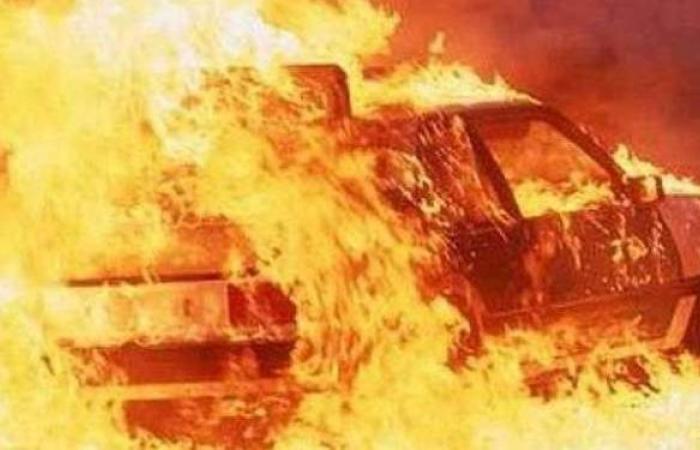 مصرع وإصابة 8 أشخاص في تفحم 6 سيارات أعلى طريق الدائري الأوسطي بحلوان