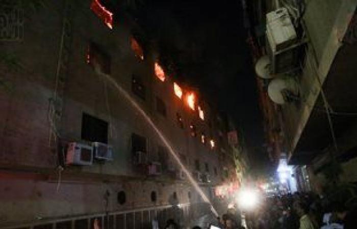 الكنيسة: إصابة بعض المشاركين فى إطفاء حريق كنيسة العمرانية باختناق