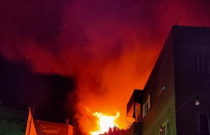 تفاصيل تفحم عقار الكيت كات .. إخماد الحريق استمر 6 ساعات