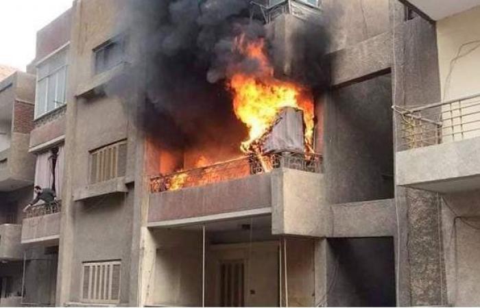 حريق في شقة سكنية بالمطرية.. والنيابة تنتدب المعمل الجنائي