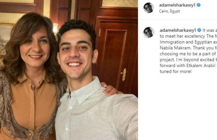 """آدم الشرقاوى بعد اختياره سفيرا لـ""""اتكلم عربى"""": متحمس للغاية وشكرًا لاختيارى"""