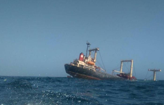 انقلاب سفينة مساعدات أممية بميناء الحديدة.. ومقتل عامل