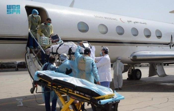 بتوجيهات ولي العهد: نقل مواطن مصاب بكورونا جوا من الأردن للمملكة