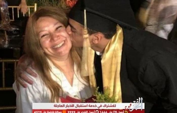 بهذه الطريقة.. انتصار تحتفل بتخرج ابنها