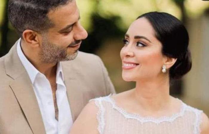 أناقة وبساطة.. 9 صور من حفل زفاف «محمد فراج وبسنت شوقي»