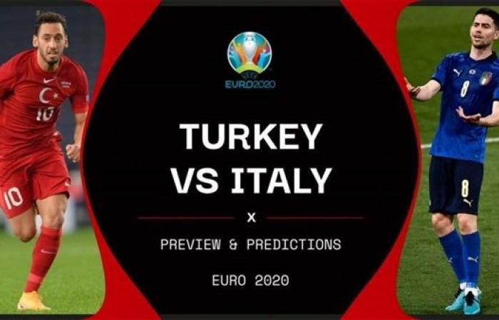 موعد مباراة إيطاليا ضد تركيا في كأس أمم أوروبا (يورو 2020)