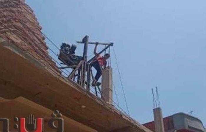 إزالات للمباني المخالفة في المهد وتحرير محاضر ضد أصحابها بالشرقية