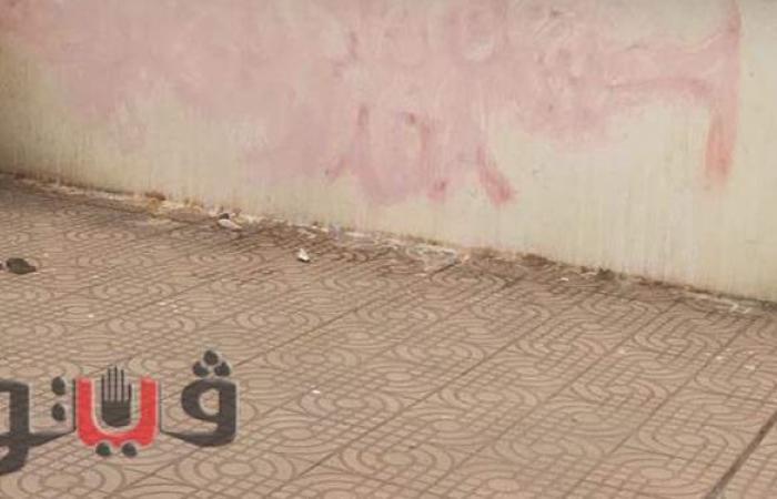 إزالة عبارات غزل عبده وندا من سور محطة السكة الحديد بالغربية