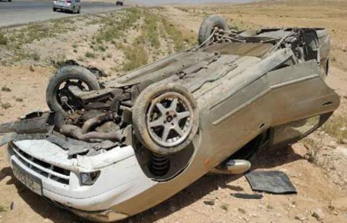 إصابة 6 أشخاص في انقلاب سيارة ملاكي بطريق العلمين