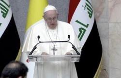 مكتب السيستانى: أكدنا مع البابا فرنسيس تغليب العقل والحكمة ونبذ لغة الحرب