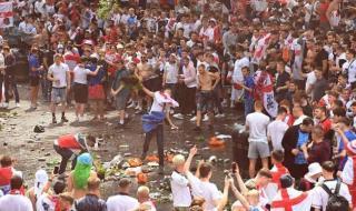 يورو 2020.. أعمال شغب من الجمهور الإنجليزي قبل المباراة النهائية| صور